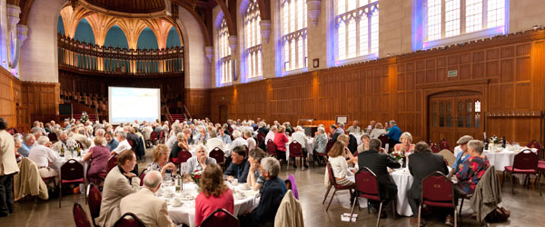 Alumni in great hall - reunion lunch