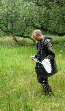 Sampling in Dundee nature reserve