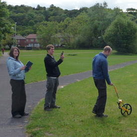 Leeds team sampling a park