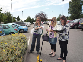 Bristol team sampling a car park
