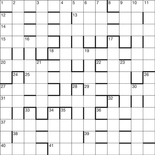 Centenary crossword