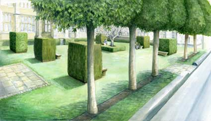 Artist's impression of the centenary garden