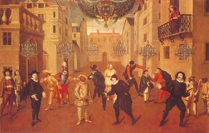 Commedia mid 18th Century France