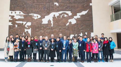Group shot of researchers working in Anhui University