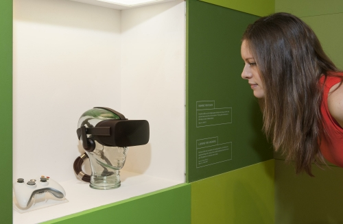 VR headset from Our Lives in Data exhibition (Science Museum)