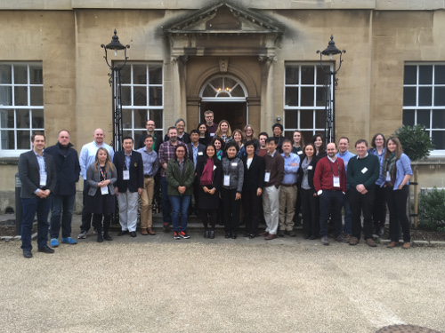 A group shot of participants in the AMR World Cafe workshop
