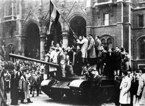 the Hungarian uprising in 1956