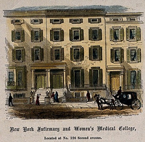 Painting of the New York infirmary