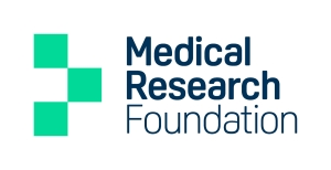 The logo for the Medical Research Foundation.