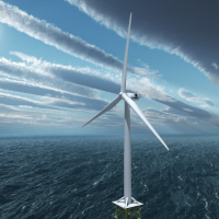 Image of Offshore V164 wind turbine © Vestas 2011