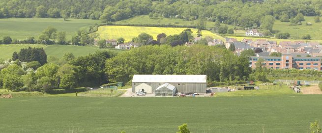 View of Fenswood Farm buildings