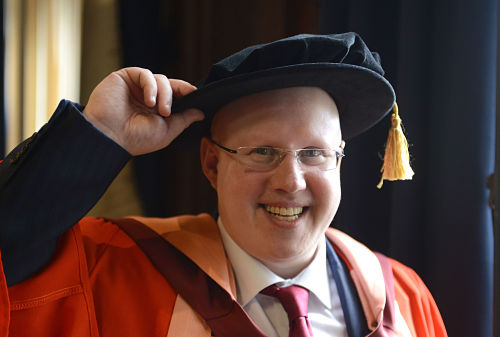 Matt Lucas honorary degree Feb 2017