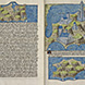 Maps of Thasos, Mount Athos, and, Sanstrati in Cristoforo Buondelmonti's Liber Insularum Archipelagi London, British Library Arundel ms. 93 art. 7, fol. 157r.