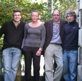 The project team (left to right): Tim Cole, Marianna Dudley, Peter Coates, and Chris Pearson