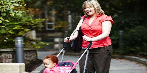 Child in pushchair