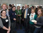 Professor David Eastwood with University of Bristol students.