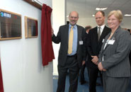 Left to right: Professor David Eastwood, Professor Nick Norman and Professor Judy Harris following the unveiling of both plaques.