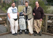 Left to right: Peter Barham (Physics), Tilo Burghardt (Computer Science) and Innes Cuthill (Biological Sciences) at Bristol Zoo Gardens