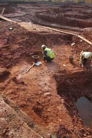 Archaeologists working at the Royal Fort site