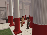 The virtual Pompeian Court on Second Life
