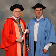 From left to right: Dr Charles Bennett and Professor Sandu Popescu