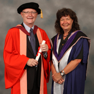From left to right: Professor Nigel Thrift and Professor Wendy Larner