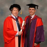 From left to right: Mr Alan Bond and Dr Mark Lowenberg