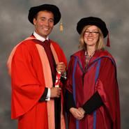 From left to right: Mr William Lewis and Professor Judith Squires