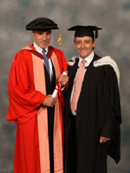Daniel Day-Lewis with Professor Martin White