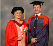From left to right: Professor Julia Slingo, OBE and Professor Paul Valdes