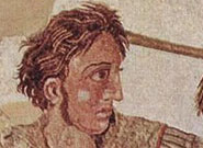 A mosaic showing Alexander the Great