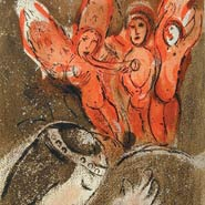 Marc Chagall, Sarah & The Angels (1960) Original Lithograph