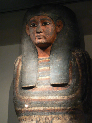 The extremely rare Egyptian coffin, possibly belonging to the son of a king