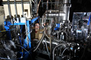 Co-author Craig Taatjes at the machine at the Advanced Light Source at Lawrence Berkeley