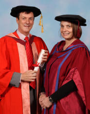 Professor Ray Priest, Doctor of Laws, and Professor Ros Sutherland, Professor of Education