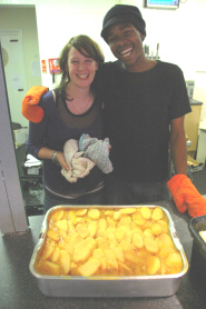 FoodCycle Bristol Manager Amy Hale with volunteer Shane Jordan