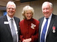 Dave Skelhorne, Lady Gass, Lord Lieutenant of Somerset and Geoff Davies
