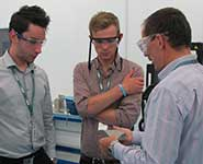Students on placement with GKN Aerospace in August 2013