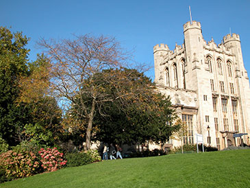 Image of Royal Fort Gardens and the Physics building