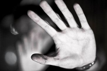 Image of a hand to represent domestic violence