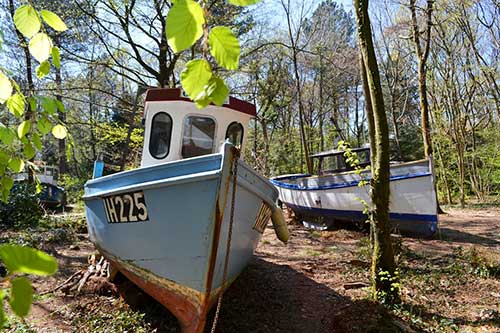 Image of Withdrawn by Luke Jerram - one of the fishing boats in Leigh Woods