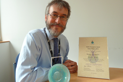 Martin Wiles with Outstanding Earth Champion awards