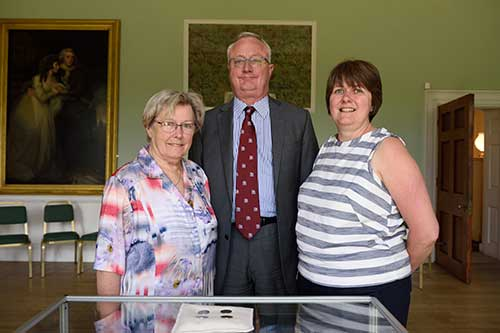 Image of Geraldine Menez, Professor Sir Eric Thomas and Jo Elsworth with the silver tickets