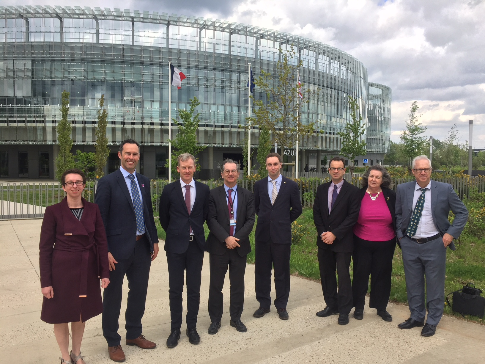 Bristol visit to EDF Lab Saclay -delegation photo