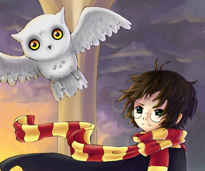 FanArt - Harry Potter and Hedwig