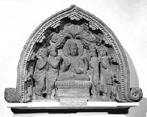 Gods Entreating the Buddha to Preach 50CE-250CE - Photography courtesy of the Huntingdon Archive