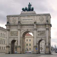 The Siegestor, Munich, modelled on the Arch of Constantine