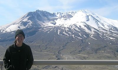 Dr Jennie Bright at Mount St. Helens