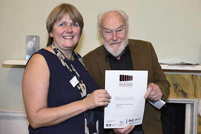 Jo Elsworth with acclaimed actor Timothy West