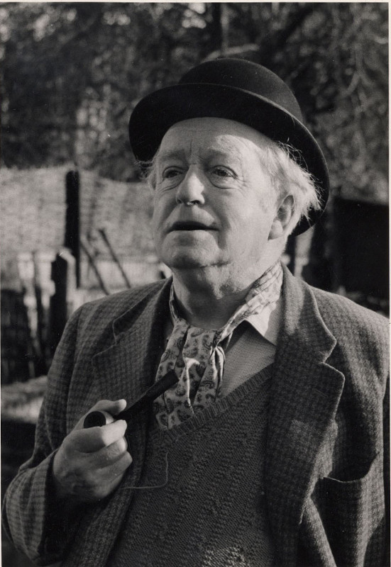 Arnold Ridley in the character of Doughy Hood in the BBC radio series 'The Archers', 1967. Photographer: E.Johnson Taylor.